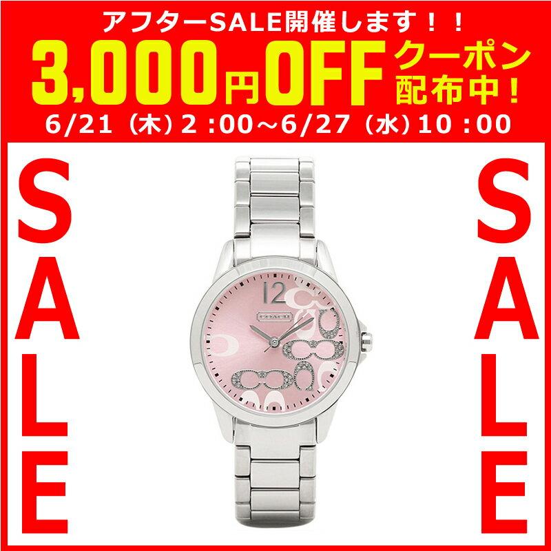 コーチ COACH クオーツ 腕時計 ブランド クラシックシグネチャーピンクゴールド/シルバーブレスレットウォッチレディース14501617