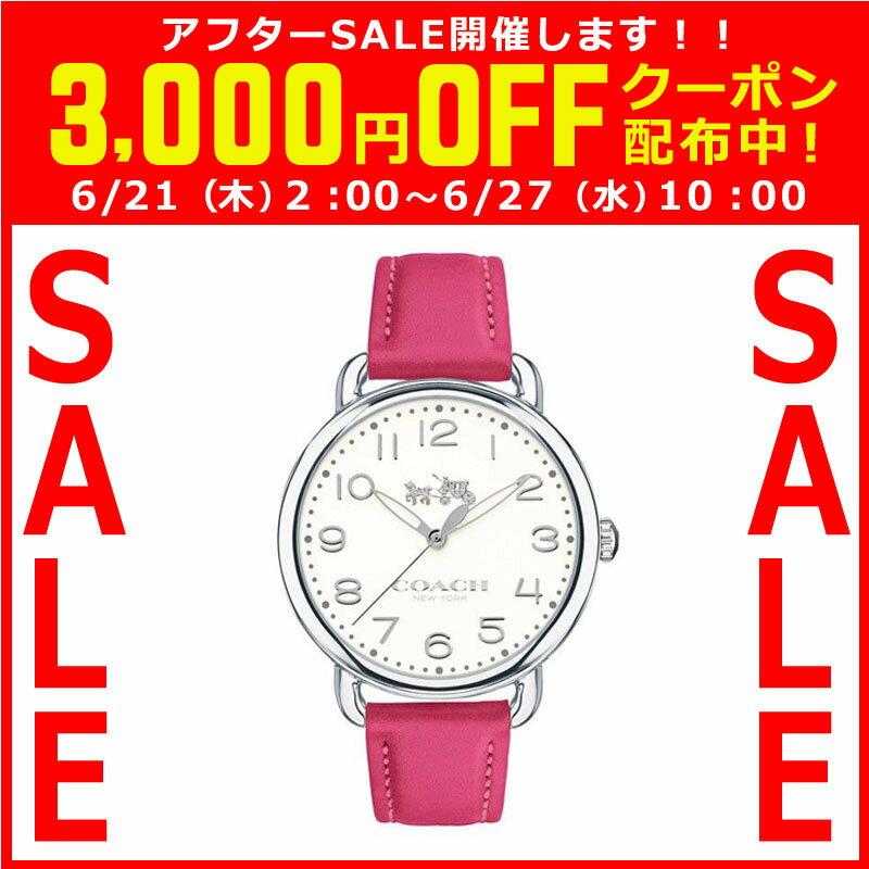 コーチ COACH クオーツ 腕時計 ブランド デランシー アイボリー×ピンク レザーウォッチレディース14502560