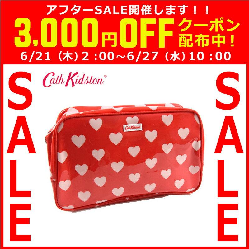Cath Kidston キャスキッドソン スパバッグ/温泉ポーチ PVC Box Wash bag ボックスウォッシュバッグ レッドハート 506441 【着後レビューを書いて1000円OFFクーポンGET】