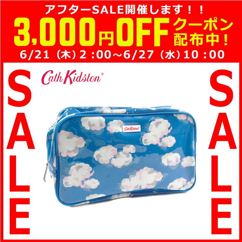 Cath Kidston キャスキッドソン スパバッグ/温泉ポーチ PVC Box Wash bag ボックスウォッシュバッグ ブルークラウド 506458 【着後レビューを書いて1000円OFFクーポンGET】