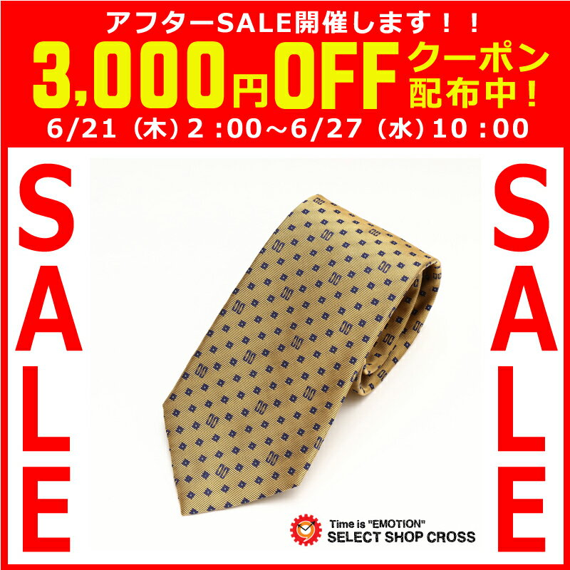 DAKS ダックス ネクタイ 新作 シルク100% 小紋柄 ゴールド系 DAKS15-D12032-5 【着後レビューを書いて1000円OFFクーポンGET】