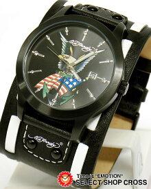 エドハーディー gl2-us GLADIATOR2 グラディエーター2 Ed-Hardy 腕時計 アメリカ ブラック 黒 【男性用腕時計 リストウォッチ ランキング ブランド 防水 カラフル】