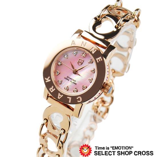 アンクラーク ANNE CLARK レディース 腕時計 ブランド アナログ 天然シェル文字盤 ハート ブレスウォッチ AN1021-17PG ピンク/ゴールド 【着後レビューを書いて1000円OFFクーポンGET】