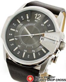 ディーゼル DIESEL メンズ 腕時計 アナログ 革 レザーベルト DZ1206 グレー 【男性用腕時計 時計 リストウォッチ ランキング ブランド 防水 革ベルト カラフル】