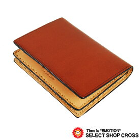 IL Bussetto イルブセット メンズ 二つ折り名刺入れ/カードケース 11-013 Brown ブラウン 正規品 【あす楽】
