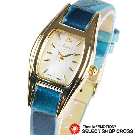 即納 Audrey オードリー イタリアンレザーコレクション watch レディース腕時計 パール文字盤 WH0880-BL ブルー 【女性用腕時計 リストウォッチ ランキング かわいい カラフル】【着後レビューを書いて1000円OFFクーポンGET】 【あす楽】