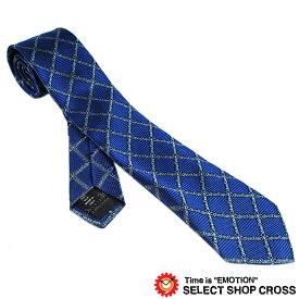 Calvin Klein カルバンクライン ネクタイ ロゴダイヤモンドチェック柄 ブルー 9C507-3