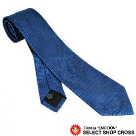 Calvin Klein カルバンクライン ネクタイ 格子柄 ブルー 9C515-5