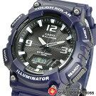 CASIOカシオSPORTSスポーツメンズ腕時計アナデジタフソーラーAQ-S810W-2A2ネイビー海外モデル