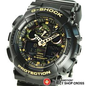 【名入れ対応】 【3年保証】 カシオ 腕時計 CASIO Gショック GA-100CF-1A9 防水 ジーショック G-SHOCK メンズ 時計 アナデジ GA-100CF-1A9DR ブラック 黒 ゴールド 迷彩 カモフラージュ 海外モデル [国内 GA-100CF-1A9JF と同型] カシオ 腕時計