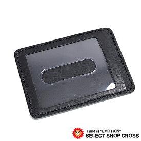 栃木レザー 伝統 パスケース/カードケース 純国産とハンドメイドにこだわった匠のパスケース JAPAN ブラック L-20254-BK 【あす楽】