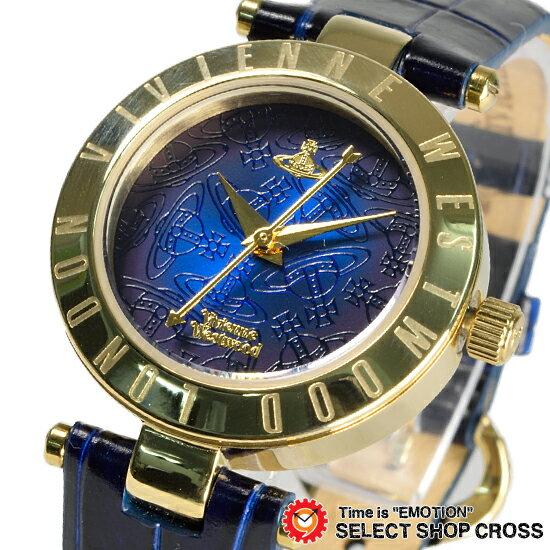 ヴィヴィアン・ウエストウッド Vivienne Westwood レディース 腕時計 アナログ オーブ レザーベルト VV092NVNV ネイビー/ゴールド 金色【着後レビューを書いて1000円OFFクーポンGET】 【あす楽】