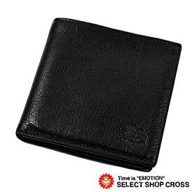 002ca2eaaf68 IL BISONTE イルビゾンテ 二つ折り財布 小銭入れなし カードケース カーフレザー 35 Nero ブラック