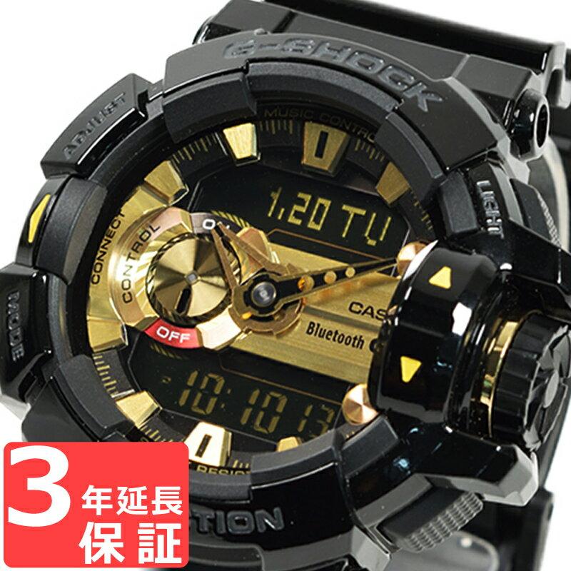 【3年保証】 カシオ 腕時計 CASIO G-SHOCK Gショック GBA-400-1A9 防水 ジーショック メンズ 時計 Bluetooth アナデジ G'MIX ブラック 黒 ゴールド GBA-400-1A9DR 海外モデル [国内 GBA-400-1A9JF と同型] カシオ 腕時計 【あす楽】
