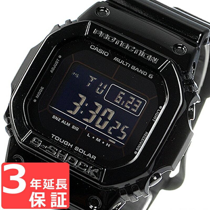 【100%本物保証】 【3年保証】 G-SHOCK CASIO カシオ Gショック 防水 ジーショック Grossy Black Series デジタル 電波ソーラー 腕時計 電波時計 メンズ GW-M5610BB-1DR ブラック 黒 海外モデル 【あす楽】