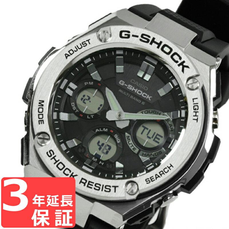 G-SHOCK CASIO カシオ Gショック メンズ 腕時計 電波ソーラー G-STEEL Gスチール アナデジ GST-W110-1ADR ブラック×シルバー 海外モデル【着後レビューを書いて1000円OFFクーポンGET】