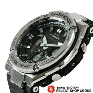 G-SHOCKCASIOカシオGショックメンズ腕時計電波ソーラーG-STEELアナデジGST-W110-1ADRブラック×シルバー海外モデル