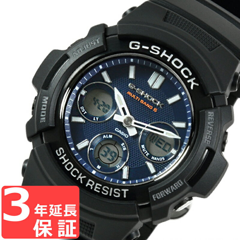 G-SHOCK CASIO カシオ Gショック メンズ 腕時計 電波 ソーラー AWG-M100SB-2ADR ブラック 海外モデル【着後レビューを書いて1000円OFFクーポンGET】 【あす楽】