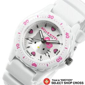 シチズン 腕時計 Q&Q ハローキティ 日本製 HELLO KITTY MADE IN JAPANモデル ホワイト×ホワイト 0027N001