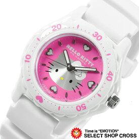シチズン 腕時計 Q&Q ハローキティ 日本製 HELLO KITTY MADE IN JAPANモデル ピンク×ホワイト 0027N002