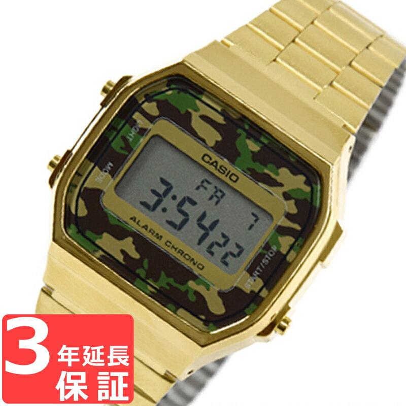 CASIO カシオ ユニセックス 腕時計 ウォッチ デジタル カジュアル チプカシ チープカシオ カモフラージュ柄 A168WEGC-3EF【着後レビューを書いて1000円OFFクーポンGET】 【あす楽】