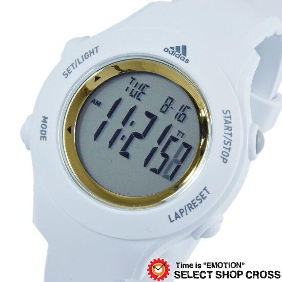 adidas アディダス デジタル 腕時計 Performance パフォーマンス SPRUNG スプラング ホワイト×ゴールド ADP3213 【あす楽】
