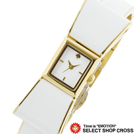 kate spade ケイトスペード Kenmare ケンマール 腕時計 リボンデザイン ホワイト×ゴールド KSW1111【着後レビューを書いて1000円OFFクーポンGET】