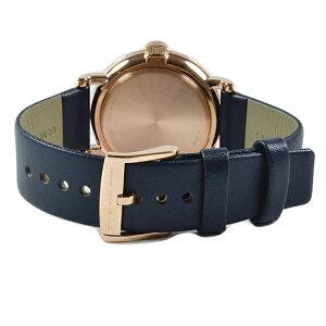 MARCBYMARCJACOBSマークバイマークジェイコブス腕時計Bakerベイカーネイビー/ピンクゴールド×ネイビーレザーベルトMBM1329
