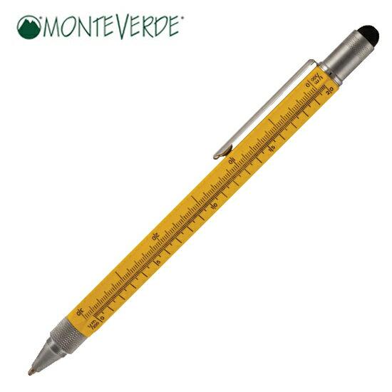 モンテベルデ MONTEVERDE 筆記用具 ボールペン ワンタッチ・スタイラス ツール・ペン イエロー 1919372【着後レビューを書いて1000円OFFクーポンGET】