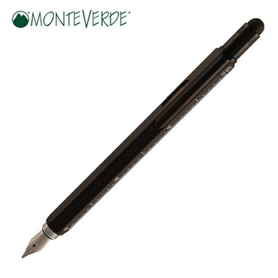 モンテベルデ MONTEVERDE 筆記用具 万年筆 ワンタッチ・スタイラス ツール・ペン ブラック 1919377 正規品