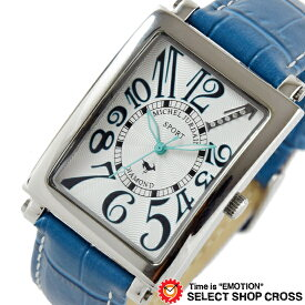 MICHEL JURDAIN SPORT ミッシェル ジョルダンスポーツ メンズ 腕時計 ダイヤモンド入 SG-3000-5 ホワイトネイビー×ネイビーレザーベルト