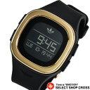 adidas アディダス ユニセックス 腕時計 DENVER デンバー ブラック×ピンクゴールド ADH3085
