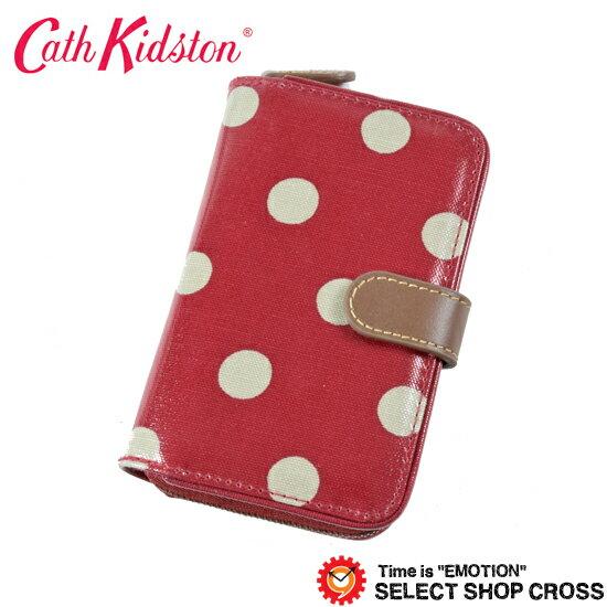 キャスキッドソン 二つ折り財布 ラウンドファスナー財布 Folded Zip Wallet フォールド ジップ ウォレット クランベリードット 416078【着後レビューを書いて1000円OFFクーポンGET】 【あす楽】
