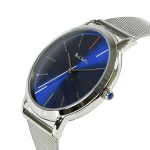 PAULSMITHポールスミスメンズ腕時計MAエムエーメタルメッシュベルトブルー/シルバーP10058