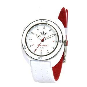 adidasアディダスSTANSMITHスタンスミスデジタル腕時計ユニセックスホワイトレッドADH3124