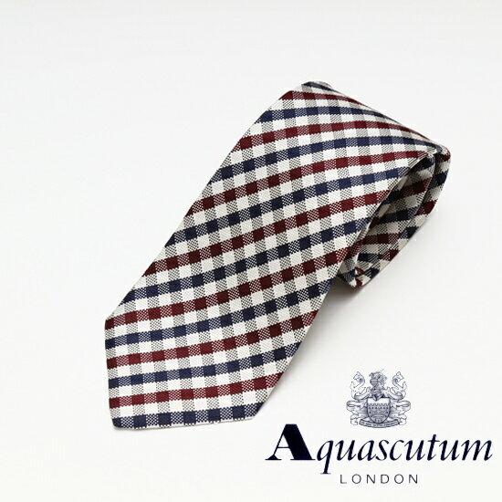 Aquascutum アクアスキュータム チェック柄 シルク ネクタイ マルチ メンズ AQ16-AQAW200-4【着後レビューを書いて1000円OFFクーポンGET】
