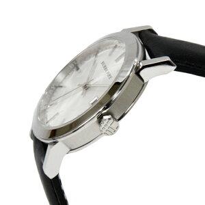 BURBERRYバーバリーCITYシティメンズ腕時計シルバー/ブラックレザーBU9008