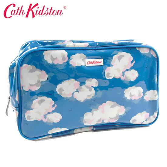 Cath Kidston キャスキッドソン スパバッグ/温泉ポーチ PVC Box Wash bag ボックスウォッシュバッグ ブルークラウド 506458【着後レビューを書いて1000円OFFクーポンGET】