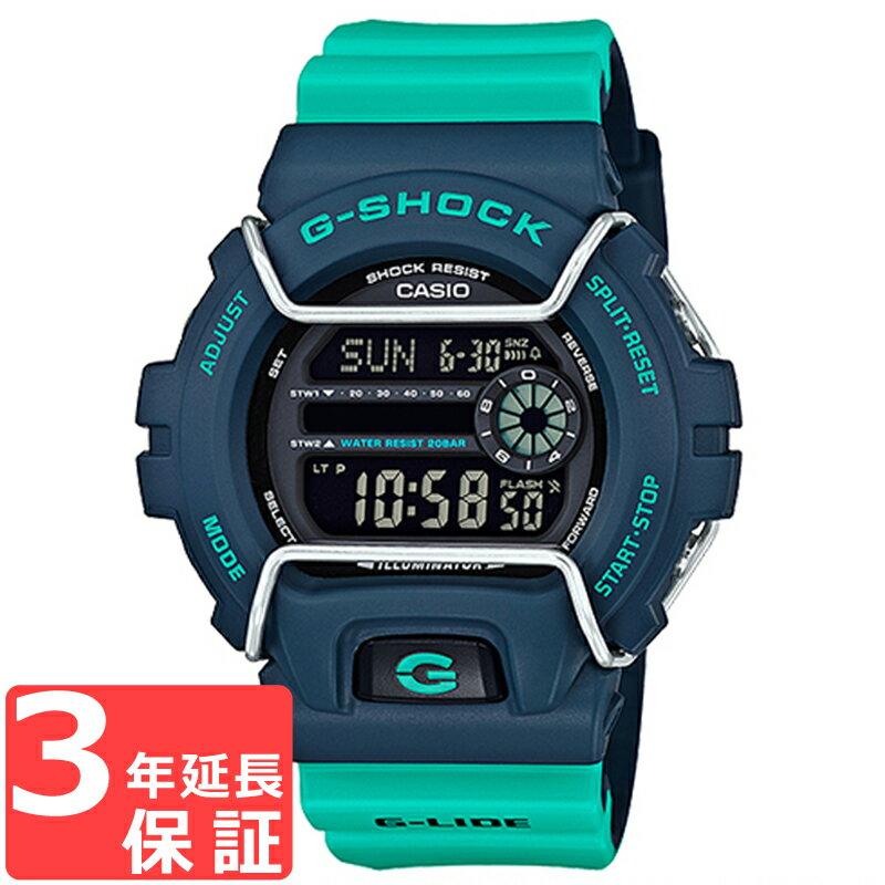 【100%本物保証】 【3年保証】 CASIO カシオ G-SHOCK Gショック 防水 ジーショック G-LIDE Gライド 腕時計 デジタル メンズ ブルー グリーン GLS-6900-2ADR 海外モデル