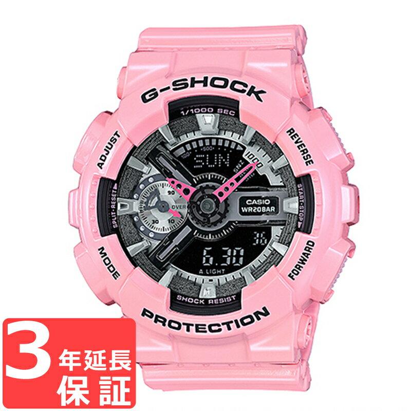 CASIO カシオ G-SHOCK Gショック 腕時計 メンズ レディース アナデジ パステルピンク ブラック GMA-S110MP-4A2DR 海外モデル【着後レビューを書いて1000円OFFクーポンGET】 【あす楽】