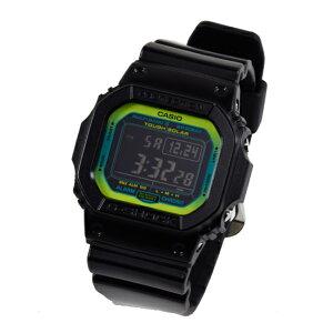 【3年保証】CASIOカシオGショック防水ジーショックG-SHOCKベーシック電波ソーラーメンズ腕時計電波時計ブラック黒グリーンGW-M5610LY-1DR海外モデル