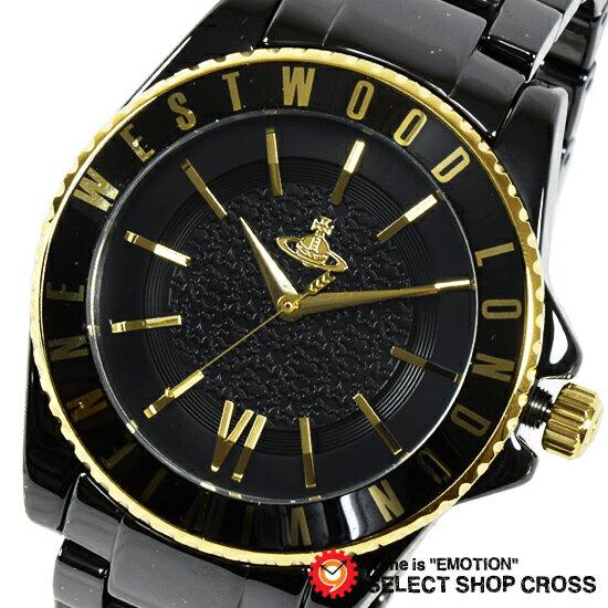 Vivienne Westwood ヴィヴィアン・ウエストウッド アナログ 腕時計 メンズ オーブ ブラック×ゴールド VV048GDBK 【着後レビューを書いて1000円OFFクーポンGET】