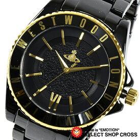 8d43eb0057 Vivienne Westwood ヴィヴィアン・ウエストウッド アナログ 腕時計 メンズ オーブ ブラック×ゴールド VV048GDBK 【あす