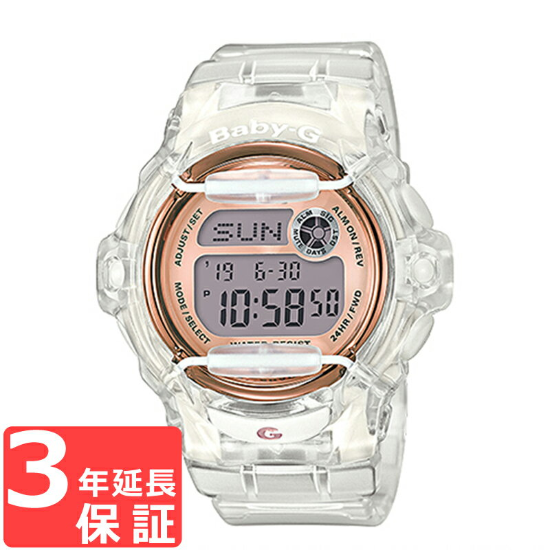 【3年保証】CASIO カシオ Baby-G ベビーG レディース 腕時計 クオーツ デジタル ローズゴールド ピンクゴールド スケルトン BG-169G-7B 海外モデル【着後レビューを書いて1000円OFFクーポンGET】 【あす楽】