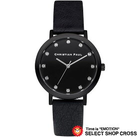 CHRISTIAN PAUL クリスチャン ポール 35mm Luxe Collection The Strand - Black/Black 35mm リュクスコレクション ザ ストランド - ブラック/ブラック クオーツ レディース 腕時計 ブランド SWL-01