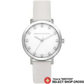 CHRISTIAN PAUL クリスチャン ポール 35mm Luxe Collection Hayman - Silver/White 35mm リュクスコレクション ヘイマン - シルバー/ホワイト クオーツ レディース 腕時計 ブランド SWL-03