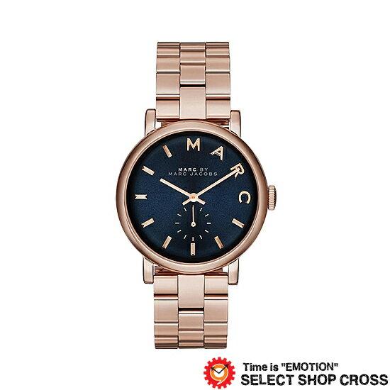 MARC BY MARCJACOBS マークバイマークジェイコブス Baker ベイカー グリッツ 腕時計ネイビー/ピンクゴールド MBM3330