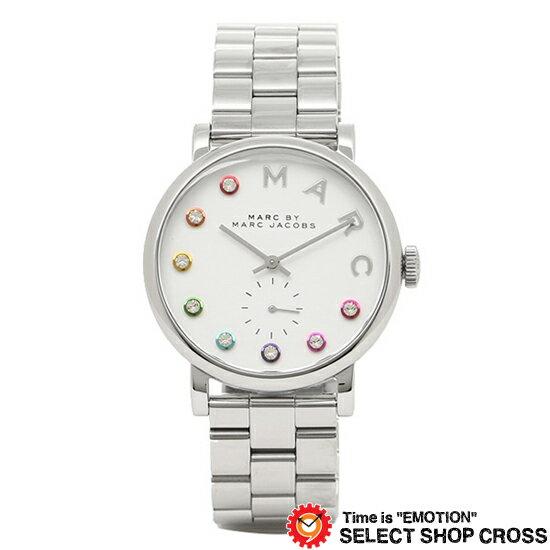 MARC BY MARCJACOBS マークバイマークジェイコブス 腕時計 ブランド レディース Baker Glitz ベイカー グリッツ ホワイト/シルバー MBM3420 【着後レビューを書いて1000円OFFクーポンGET】