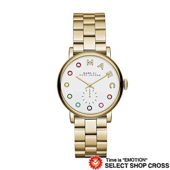 MARC BY MARCJACOBS マークバイマークジェイコブス 腕時計 ブランド レディース Baker Glitz ベイカー グリッツ ホワイト/ゴールド MBM3440 【着後レビューを書いて1000円OFFクーポンGET】