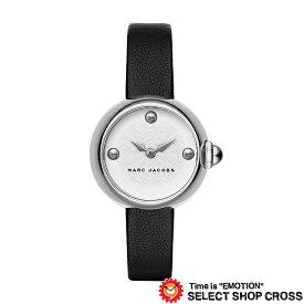 MARC BY MARCJACOBS マークバイマークジェイコブス 腕時計 ブランド レディース Courtney コートニー ホワイト/シルバー×ブラックレザーベルト MJ1430
